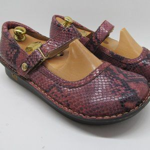 Alegria by PG Lite  Reptile Print Leather shoes